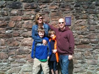 Family at castle Urquhart